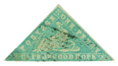 Cape of Good Hope 1861 pale milky blue Wood-block on laid paper, ERROR of color, rare, corner margin repair Cape Colony, Union Of South Africa, Blue Wood, Wood Blocks, Postage Stamps, Stamping, Hoop, Outdoor Blanket, Southern