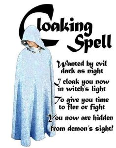 Cloaking Spell Charmed Book of Shadows Witch Spell Book, Witchcraft Spell Books, Magick Spells, Real Spells, Magick Book, Voodoo Spells, Charmed Spells, Charmed Book Of Shadows, Charmed Tv
