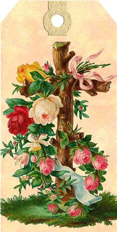 Get your hands on a customizable Vintage Rose Bouquet postcard from Zazzle. Find a large selection of sizes and shapes for your postcard needs! Easter Cross, Easter Art, Gifs, Vintage Cards, Vintage Postcards, Première Communion, Easter Religious, Botanical Flowers, Vintage Easter