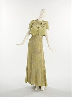 Evening ensemble Elsa Schiaparelli  (Italian, 1890–1973) Department Store: Henri Bendel (American, founded 1895) Date: 1938