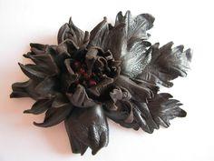 Brown fantasy flower w Lela Flowers na DaWanda.com