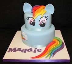 Image result for rainbow dash cake
