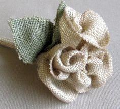 Burlap Wedding Bouquet Original by pineconeshoppe on Etsy, $29.00