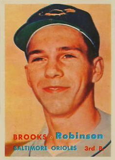 1957 Topps #328 Brooks Robinson Front