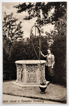 The Watts Cemetery Chapel well. Still standing today, just up the road from Watts Gallery.  ©Watts Gallery