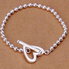 ✨ Very Pretty Heart Bracelet ✨ ✨ Very Pretty Heart Bracelet ✨ Sterling Silver Plated with 925 Stamp ✨ Last one in stock ✨ Jewelry Bracelets