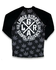 Loose Riders Herren FREERIDE Raglans.Tattoo,Biker,Oldschool,Custom Clothing Styl
