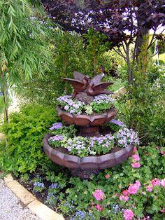 Turn A Fountain Into A Water Garden Planter Garden Treasures