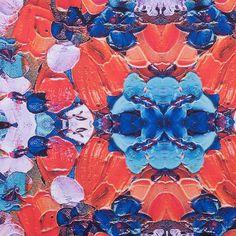 Red Floral Kalei Digitally Printed Stretch Neoprene/Scuba Knit