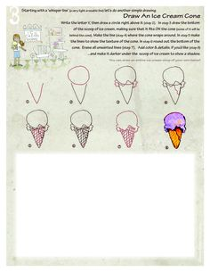 Draw an Ice Cream Cone... - theDRAWpage.com