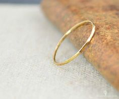Solid 14K Yellow Gold Super Thin Stacking Ring, Minimal Gold Ring, Yellow Gold Ring, Solid Gold Ring, 14k Gold Ring, Real Gold Ring, Stack by Alaridesign on Etsy https://www.etsy.com/listing/235251751/solid-14k-yellow-gold-super-thin