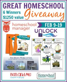 NEW at Meet Penny: February Edition of Great Homeschool Giveaways