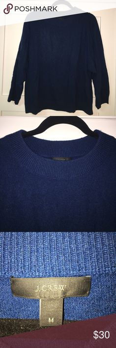 JCrew dark teal over sized wide neck sweater Barely worn - great condition JCrew dark teal over sized wide neck sweater J. Crew Sweaters Crew & Scoop Necks