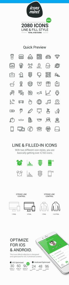 Line & Fill Style icons set Published by Maan Ali