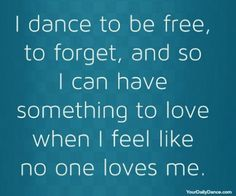 I dance to be free 2