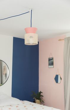 Do it yourself lampe à suspendre ou à poser en cannage #DIY rattan light