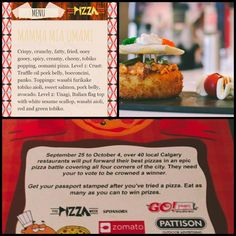 Don't forget that tomorrow kicks off #yycpizzaweek #calgary! We've got a #sushi pizza you NEED to try! #burgushi #YYC