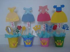 centros de mesa princesa merida   Centro de mesa princesas   Marcelle Prado   2E2A0D - Elo7