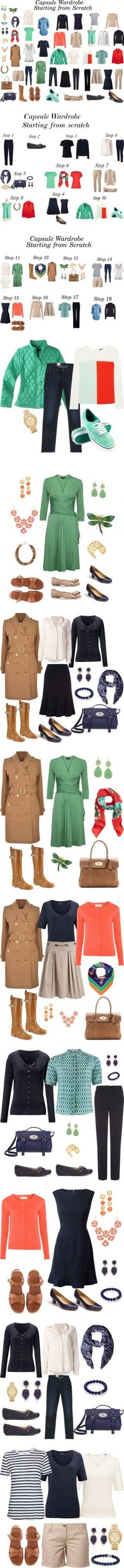 Capsule Wardrobe - Starting from Scratch by cassican on Polyvore featuring moda, Hobbs, Hahn, Levi's, Warehouse, Jigsaw, Wallis, The Row, Raoul and Freda