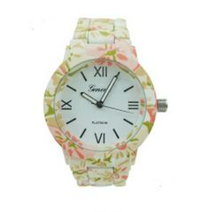 Super cute, classy and chic floral band watch. Perfect for stacking with other bracelets.  THEMINXSHOP!!!