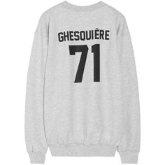 LPD New York Team Ghesquière printed cotton-fleece sweatshirt (105 CAD) ❤ liked on Polyvore featuring tops, hoodies, sweatshirts, sweaters, shirts, grey, embroidered sweatshirts, loose tops, embroidered top and print shirts