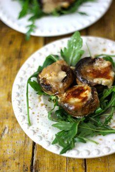 As Minhas Receitas: Cogumelos com Queijo de Cabra e Rucula