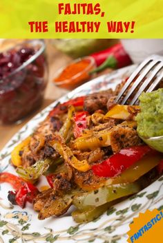 Fajitas The Healthy Way! Learn how to make an old favorite with a new twist. | via @SparkPeople