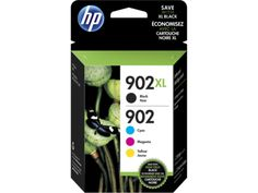 HP 902 CyanMagentaYellowBlack Ink Cartridges T0A39AN140 Pack Of 4 by Office Depot & OfficeMax - Don't want to run out of ink at a time when you need that important report!  Replacement cartridges are just a click away!