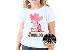 Cowgirl Birthday Shirt or Bodysuit Personalized by MiniExpressions