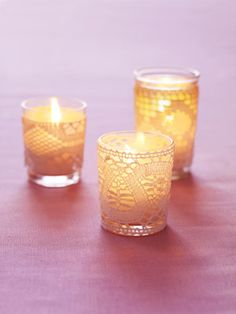 lace candles <3