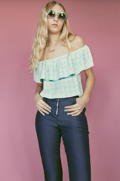 b3824d8aa170f Lenore Off-the-Shoulder Ruffle Top