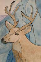 Wind Of Change, The Messenger, Nature Animals, Prismacolor, Deer, Moose Art, Original Art, Owl, Spirit