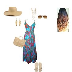 """beach outfit"" by avamoselle on Polyvore"