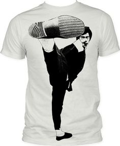 Bruce Lee: Side Kick Big Print (Subway Tee) - Impact Shirts $18.98 on OLDIES.com