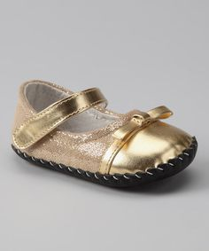 Take a look at this Gold Originals Penny Mary Jane by pediped on #zulily today!