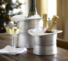 Champagne! Top hat ice bucket modeled after a 1940s version. PB