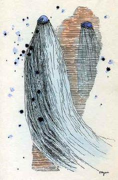 Toyen - A Girl with a Long Veil, 1933