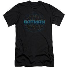 BATMAN/BAT TECH LOGO - S/S ADULT 30/1 - BLACK -