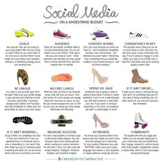 So, you want to utilize social media for your business but you don't have much of a budget? Social media on a shoestring budget [INFOGRAPHIC]