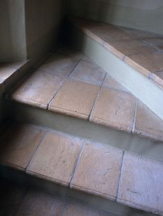 tiled stairs, Mediterranean. this would be cool  :)