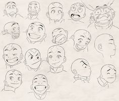 Aang's Expressions study by 7neondragon on DeviantArt