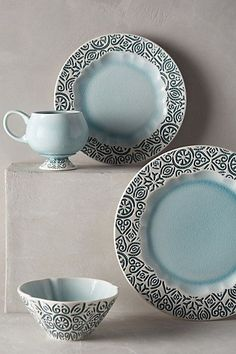 Chilled Sky Dinner Plate - anthropologie.com #anthrofave