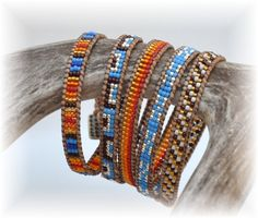 Handcrafted 5 wrap bracelet with natural light brown leather cord Beaded Wrap Bracelets, Beaded Bracelet Patterns, Bohemian Bracelets, Jewelry Patterns, Bracelet Designs, Handmade Bracelets, Beaded Jewelry, Beaded Leather Wraps, Leather Cord