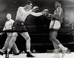 """Ali vs Louis - this is THE FIGHT I want to see. In the great documentary, """"AKA Cassius Clay,"""" Cus D'amato and Ali were debating this match-up and Cus was adamant that Louis would win. Ali was not happy.  boxinghalloffame.com"""