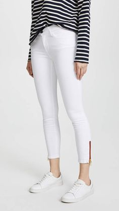 New Etienne Marcel Skinny Jeans with Zip online. Enjoy the absolute best in Rebecca Minkoff Clothing from top store. Mother Jeans, Edgy Look, Stretch Jeans, White Jeans, Your Style, Skinny Jeans, Zipper, Marcel, Denim