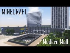 Minecraft Modern Mall (full interior) + Download - YouTube Minecraft Mods, Minecraft Modern City, Minecraft Building Designs, Minecraft City Buildings, Minecraft House Tutorials, Minecraft Castle, Minecraft Houses Blueprints, Minecraft Plans, Minecraft Architecture