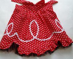 DIY Tutorial: DIY Sewing / DIY Retro Ric Rac Apron Flamingo Toes - Bead&Cord