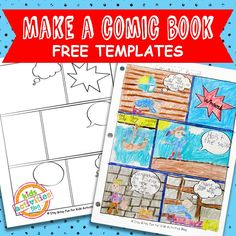 comic book templates free kids printable - Book For Free For Kids