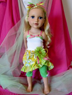 Doll Clothes 18 inch Dolls Green Candy by HauteDesignsByNorine, $17.50