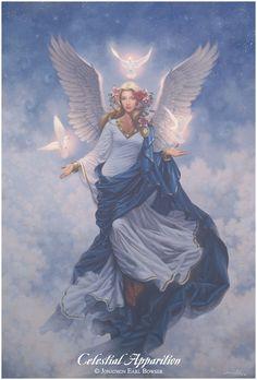 ...an oil painting of a Eternal Angel ~ Artwork © - Jonathon Earl Bowser
